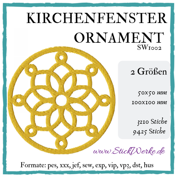 Kirchenfenster Ornament
