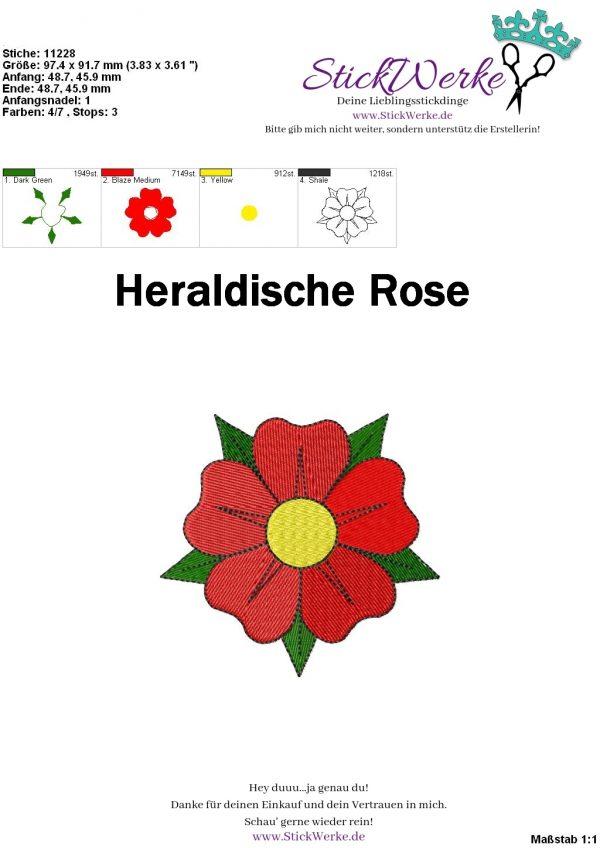 Heraldische Rose